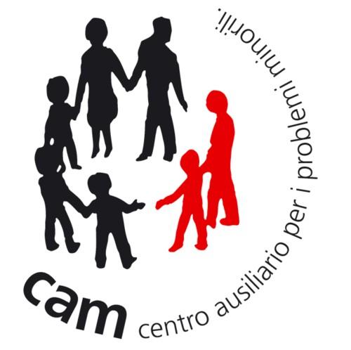 il logo del CAM (Centro Ausiliario per i problemi Minorili)